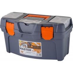 """Ящик для инструментов Master 16"""" серо-свинцовый/оранжевый"""