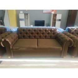 диван 2-х местный PRINCE темно-коричневый