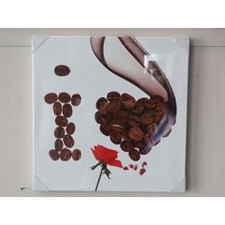 картина Любовь к кофе SJMD8084 50x50cm