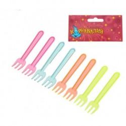 Набор пластиковых вилок (набор 24 шт), цвета МИКС 1077426