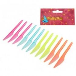 Набор пластиковых ножей (набор 12 шт), цвета МИКС 1077431