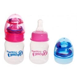 Бутылочка для кормления «Счастье - это я» с погремушкой, 60 мл, от 0 мес., цвета МИКС