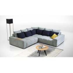 диван угловой BALTIC серый/синий