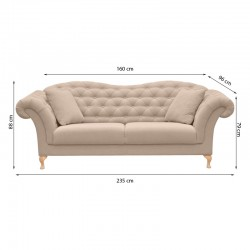 диван 3-х местный PARIS - розовый