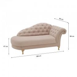 диван скамья PARIS - розовый